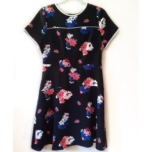 Vince Camuto Dress Travelling Blooms Fit Flare